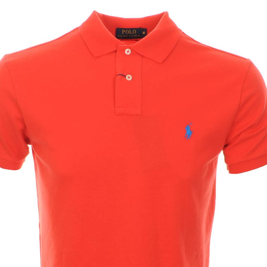 Ralph lauren ralph lauren custom fit polo t shirt red Customized polo t shirts
