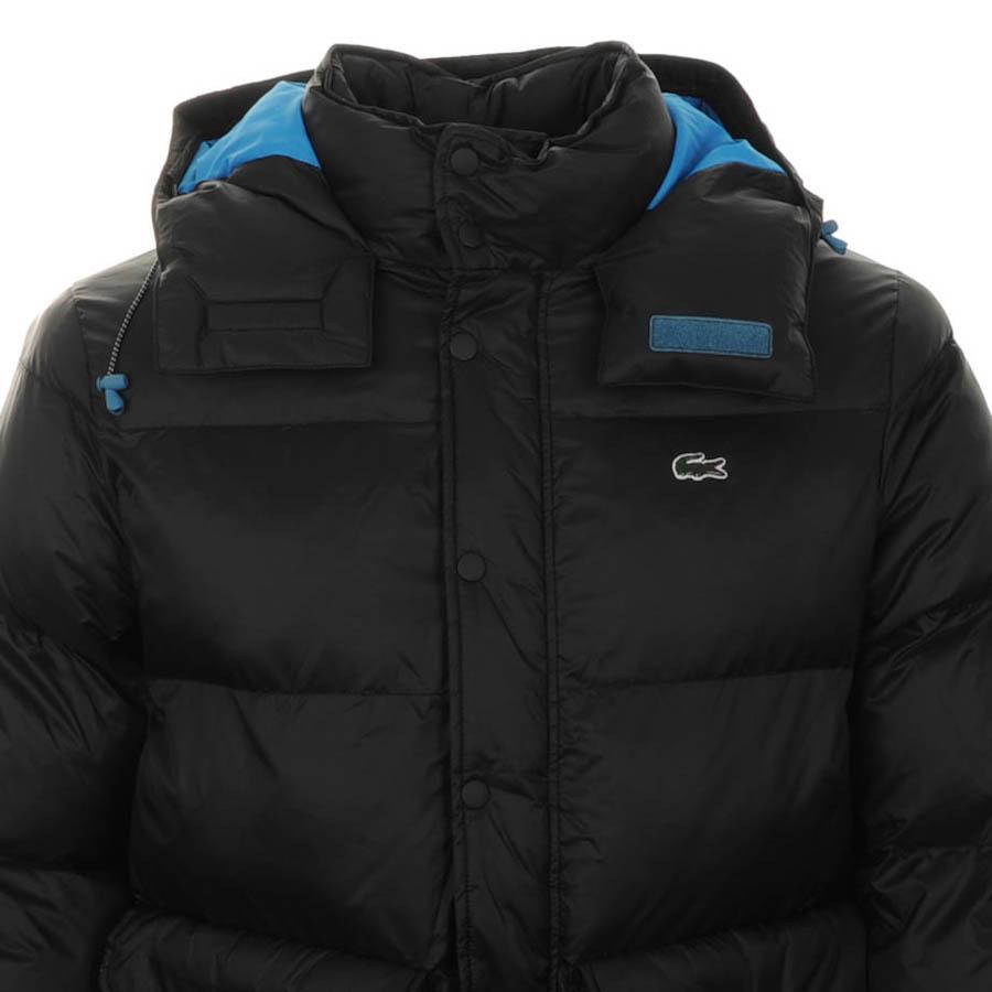 lacoste lacoste live padded hooded jacket black mens designer clothes online. Black Bedroom Furniture Sets. Home Design Ideas