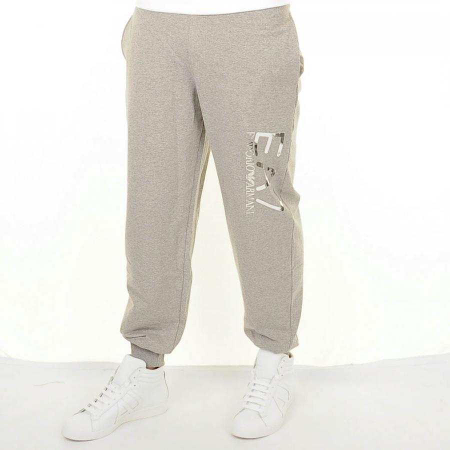 Emporio Armani EA7 Knit Tracksuit White And Grey
