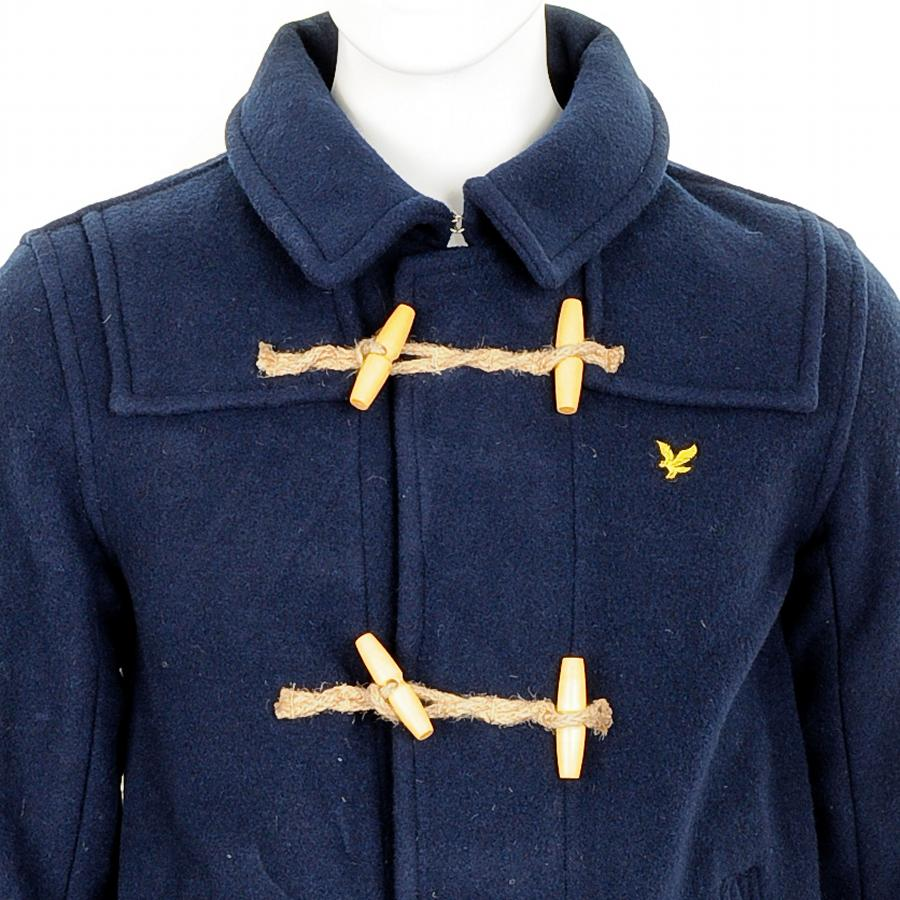 Mens designer clothing lyle and scott short duffle coat Uk mens designer clothing