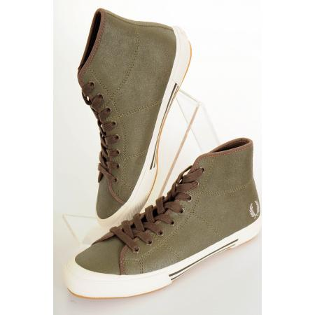 Fred Perry Vintage Tennis Leather Mid Trainers On Sale
