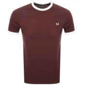 Fred Perry Ringer T Shirt Red