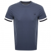 Fred Perry Bold Tipped T Shirt Blue