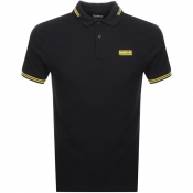 Barbour International Tipped Polo T Shirt Black