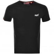 Superdry Vintage Embroidery T Shirt Black
