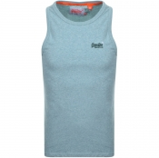 Superdry Vintage Embroidered Vest T Shirt Blue