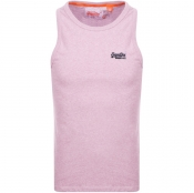 Superdry Vintage Embroidered Vest T Shirt Pink
