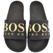 BOSS Green Solar Sliders Black