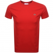 Lacoste Crew Neck T Shirt Red