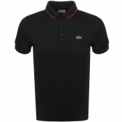 Lacoste Sport Tipped Polo T Shirt Black