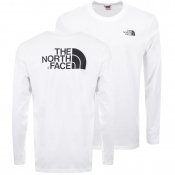 The North Face Long Sleeve Easy T Shirt White