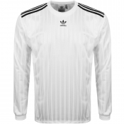 Adidas Originals Long Sleeved Jersey T Shirt White