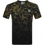 Adidas Originals Camo T Shirt Green