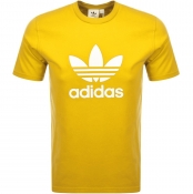 Adidas Originals Trefoil T Shirt Yellow
