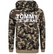Tommy Jeans Camo Hoodie Beige