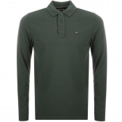 Tommy Jeans Long Sleeved Polo T Shirt Green