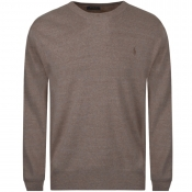 Ralph Lauren Crew Neck Knit Jumper Brown