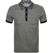 Versace Collection Two Tone Polo T Shirt Khaki