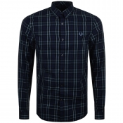 Fred Perry Enlarged Tartan Check Shirt Navy