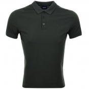 Armani Jeans Short Sleeved Polo T Shirt Green