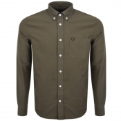 Fred Perry Long Sleeved Classic Oxford Shirt Green