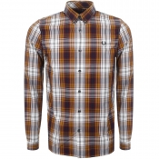 Fred Perry Bold Tartan Check Shirt Yellow