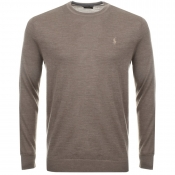 Ralph Lauren Crew Neck Jumper Brown