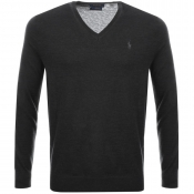 Ralph Lauren V Neck Jumper Black