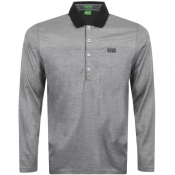 BOSS Green C- Pirona Polo T Shirt Grey
