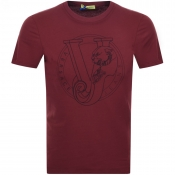 Versace Jeans Logo T Shirt Red