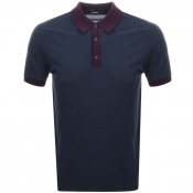 Fred Perry Wool Blend Pique Polo T Shirt Navy