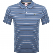 Lacoste Live Striped Polo T Shirt Blue