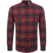 Levis Jackson Worker Check Shirt Red