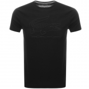 Lacoste Sport Embroidered Croc Logo T Shirt Black