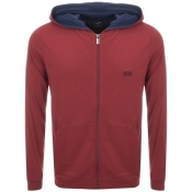 BOSS HUGO BOSS Full Zip Hoodie Red