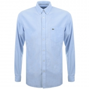 Lacoste Long Sleeved Oxford Shirt Blue