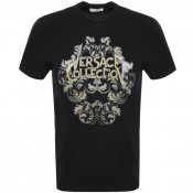 Versace Collection Logo T Shirt Black