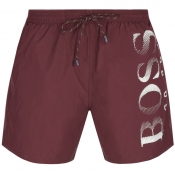 BOSS HUGO BOSS Octopus Swim Shorts Red