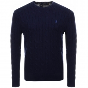 Ralph Lauren Cable Knit Jumper Navy