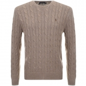 Ralph Lauren Cable Knit Jumper Brown