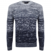 Armani Jeans Knitted Gradient Jumper Navy