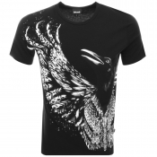 Just Cavalli Crow Logo T Shirt Black