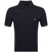 Vivienne Westwood Short Sleeve Polo T Shirt Navy