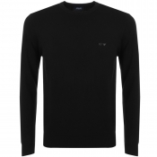 Armani Jeans Knitted Crew Neck Jumper Black