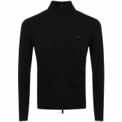 Armani Jeans Full Zip Jumper Black