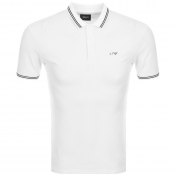 Armani Jeans Tipped Polo T Shirt White