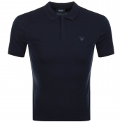 Armani Jeans Short Sleeved Polo T Shirt Navy