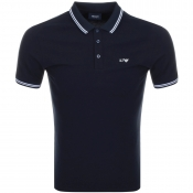 Armani Jeans Tipped Polo T Shirt Navy