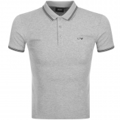 Armani Jeans Tipped Polo T Shirt Grey