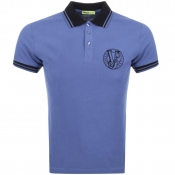 Versace Jeans Short Sleeved Polo T Shirt Navy